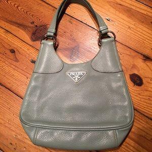 Prada Blue Vitello Danio Bag